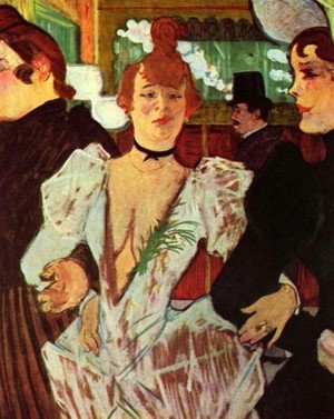 Reproduction oil paintings - Toulouse-Lautrec - Goule Enters The Moulin Rouge With Two Women