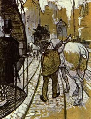 Reproduction oil paintings - Toulouse-Lautrec - The Preliminaries Horse Of The Rails Bus Company