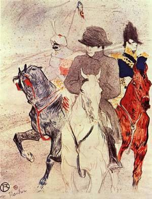 Famous paintings of Horses & Horse Riding: Napoleon Bonaparte  1895