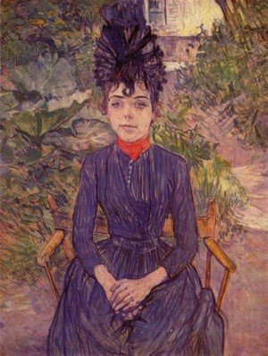 Reproduction oil paintings - Toulouse-Lautrec - Portrait Of Justine Dieuhl In The Garden