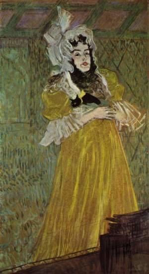 Reproduction oil paintings - Toulouse-Lautrec - Portrait Of Miss May Belfort