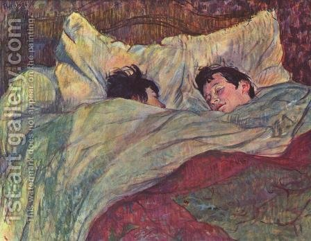Toulouse-Lautrec: Two Girls In Bed - reproduction oil painting