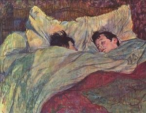 Toulouse-Lautrec reproductions - Two Girls In Bed