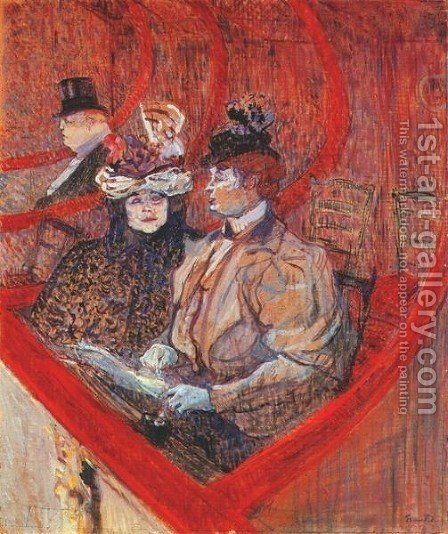 A Box At The Theater by Toulouse-Lautrec - Reproduction Oil Painting