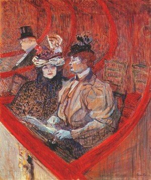 Reproduction oil paintings - Toulouse-Lautrec - A Box At The Theater