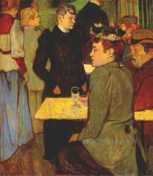 Reproduction oil paintings - Toulouse-Lautrec - A Corner In A Dance Hall