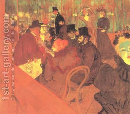 Toulouse-Lautrec: At The Moulin Rouge - reproduction oil painting