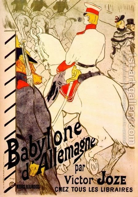 Poster For  The German Babylon by Toulouse-Lautrec - Reproduction Oil Painting