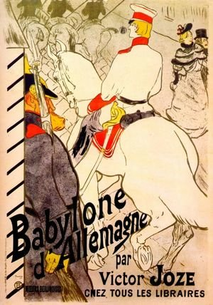 Reproduction oil paintings - Toulouse-Lautrec - Poster For  The German Babylon