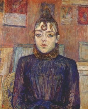 Reproduction oil paintings - Toulouse-Lautrec - Lautrec Girl With Lovelock