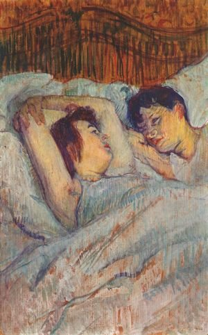 Reproduction oil paintings - Toulouse-Lautrec - In Bed