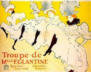 Reproduction oil paintings - Toulouse-Lautrec - La Troupe De Mlle Eglantine