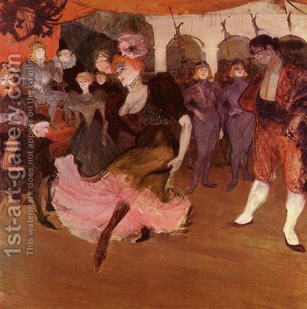 Marcelle Lender Doing The Bolero In Chilperic by Toulouse-Lautrec - Reproduction Oil Painting