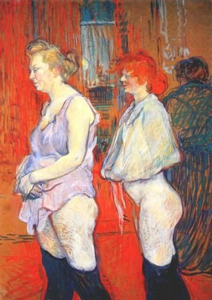 Reproduction oil paintings - Toulouse-Lautrec - Rue Des Moulins   The Medical Inspection