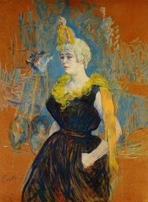 Reproduction oil paintings - Toulouse-Lautrec - The Clownesse Cha U Kao