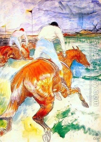The Jockey by Toulouse-Lautrec - Reproduction Oil Painting