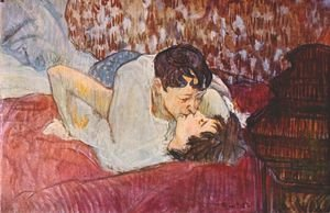 Reproduction oil paintings - Toulouse-Lautrec - The Kiss