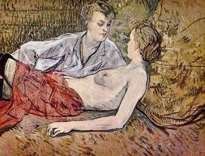 Reproduction oil paintings - Toulouse-Lautrec - The Two Girlfriends