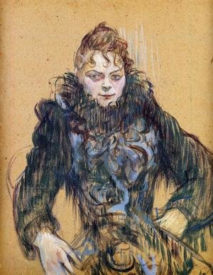 Reproduction oil paintings - Toulouse-Lautrec - Woman With A Black Feather Boa