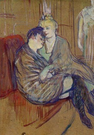 Reproduction oil paintings - Toulouse-Lautrec - Two Girlfriends