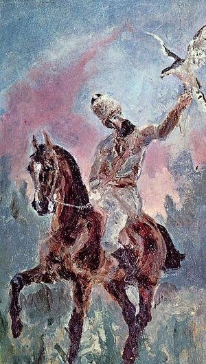 The Falconer Comte Alphonse De Toulouse Lautrec