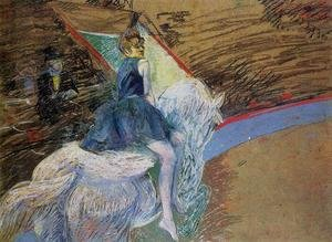 Reproduction oil paintings - Toulouse-Lautrec - At The Cirque Fernando Rider On A White Horse