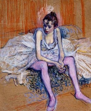 Reproduction oil paintings - Toulouse-Lautrec - Seated Dancer In Pink Tights