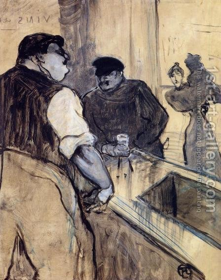 The Bartender by Toulouse-Lautrec - Reproduction Oil Painting