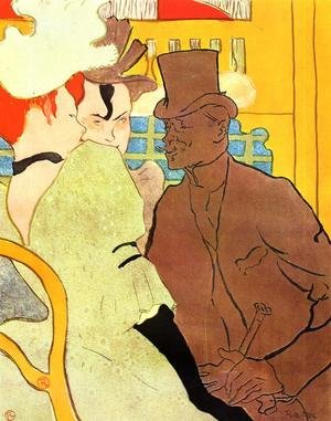 Reproduction oil paintings - Toulouse-Lautrec - The Englishman At The Moulin Rouge
