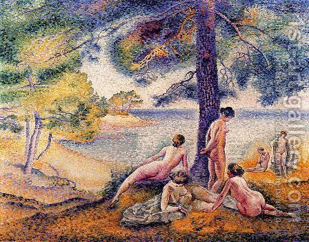 A Place In The Shade by Henri Edmond Cross - Reproduction Oil Painting