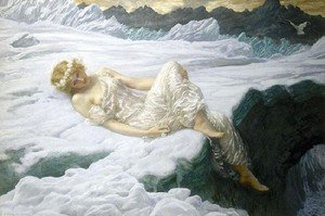 Pre-Raphaelites painting reproductions: Heart Of Snow
