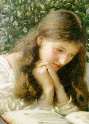 Pre-Raphaelites painting reproductions: Idle Tears