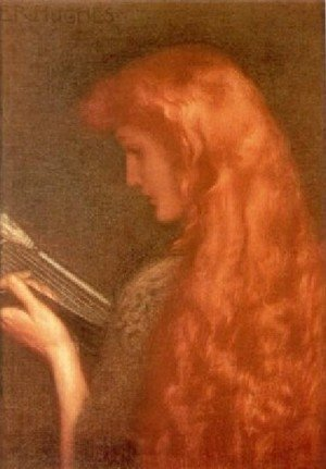 Pre-Raphaelites painting reproductions: Making Music