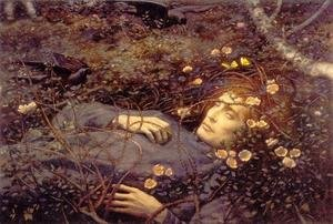 Pre-Raphaelites painting reproductions: Oh Whats That In The Hollow