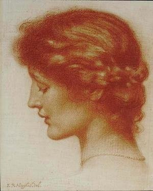 Pre-Raphaelites painting reproductions: Portrait Of Rosalind