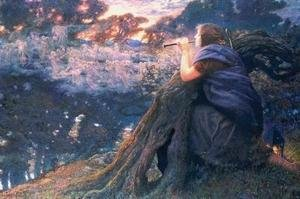 Pre-Raphaelites painting reproductions: Twilight Fantasy