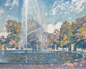 Pointillism painting reproductions: The Fountain