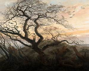 Reproduction oil paintings - Caspar David Friedrich - The Tree of Crows c. 1822