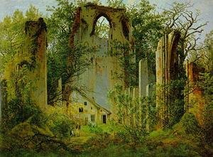 Reproduction oil paintings - Caspar David Friedrich - Eldena Ruin