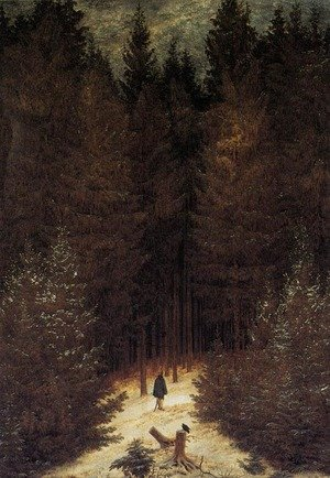 Famous paintings of Winter: The Chasseur in the Forest 1814