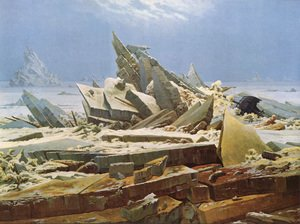 Romanticism painting reproductions: The Sea of Ice 1824