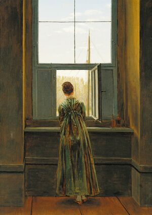 Romanticism painting reproductions: Woman at a Window 1822