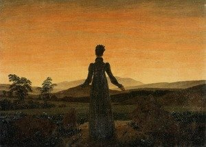 Reproduction oil paintings - Caspar David Friedrich - Woman before the Rising Sun (Woman before the Setting Sun) 1818-20