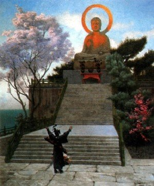 Famous paintings of Buddhism: A Japanese Imploring A Divinity