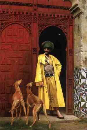 Reproduction oil paintings - Jean-Léon Gérôme - An Arab And His Dogs