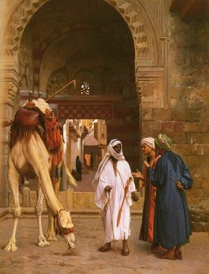 Famous paintings of Markets: Arabs Arguing