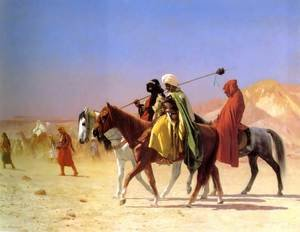 Famous paintings of Transportation: Arabs Crossing The Desert