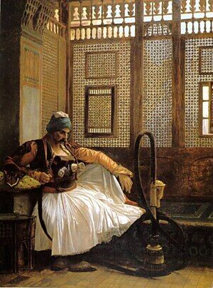 Reproduction oil paintings - Jean-Léon Gérôme - Arnaut Smoking