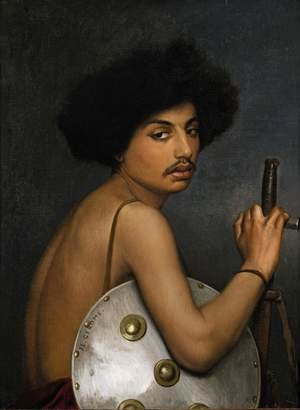 Reproduction oil paintings - Jean-Léon Gérôme - Bisharin Warrior