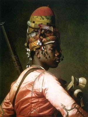 Reproduction oil paintings - Jean-Léon Gérôme - Black Bashi Bazouk